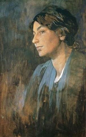 Alphonse Maria Mucha (Czech artist, 1860-1939) Marushka, The Artist's Wife 1905