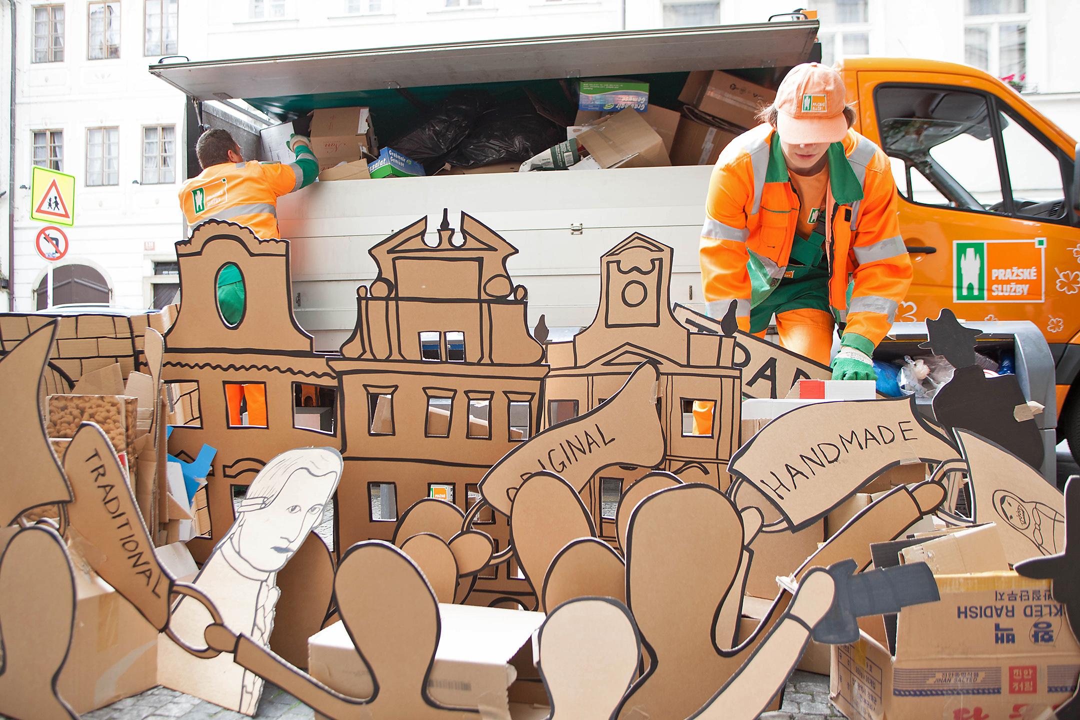 Garbage collectors.  Photo: Tineke de Lange