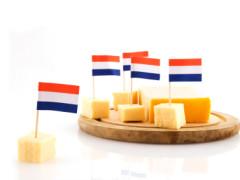 cubes Dutch cheese with Dutch flag