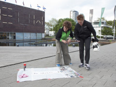 working in public space